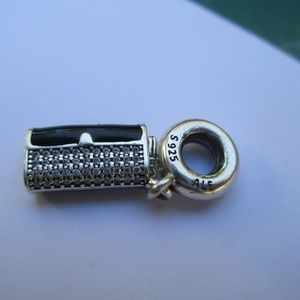PANDORA Clutch Bag Dangle Charm, Black Enamel
